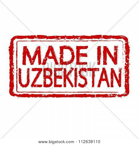 Made In Uzbekistan Stamp Text Illustration