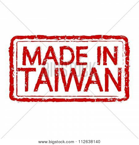 Made In  Taiwan Stamp Text Illustration