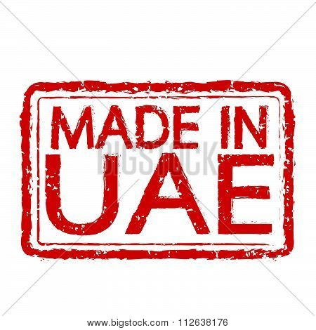 Made In  Uae Stamp Text Illustration