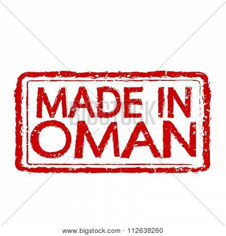 Made In  Oman Stamp Text Illustration