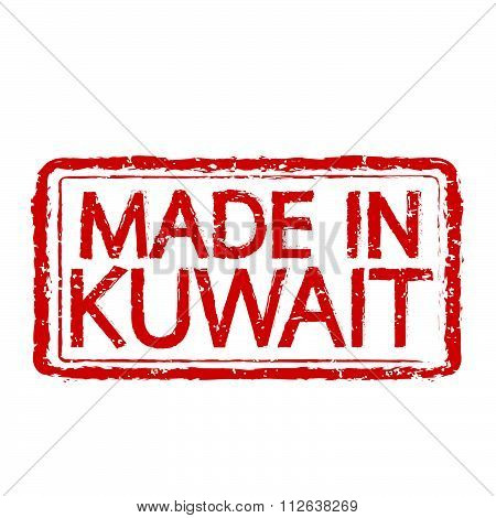 Made In  Kuwait Stamp Text Illustration