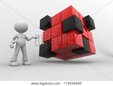 Red And Black Cubes