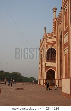 Side On View Of Humayuns Tomb