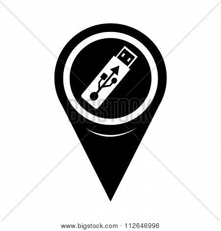 Map Pointer Usb Flash Drive Icon