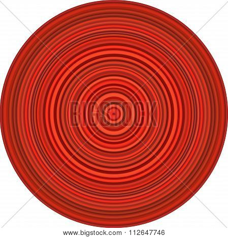 Concentric Pipes Circular Shape In Multiple Red
