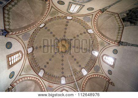 Sarajevo, Bosnia and Herzegovina - August 23, 2015: interior of Emperor's Mosque in Sarajevo