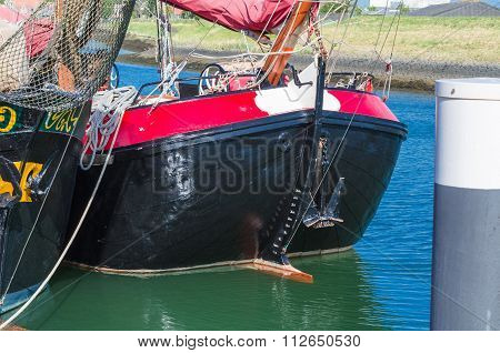 Deck Of A Wooden Sailing Ship