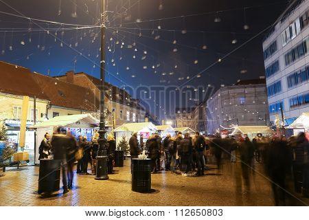 Advent On European Square In Zagreb