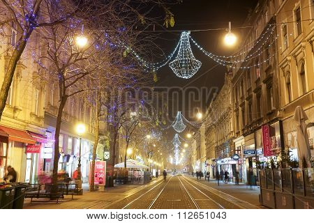 Christmas Decorations In Jurisiceva Street