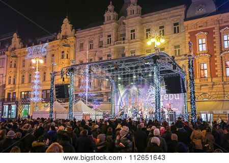 Main Stage On Jelacic Square