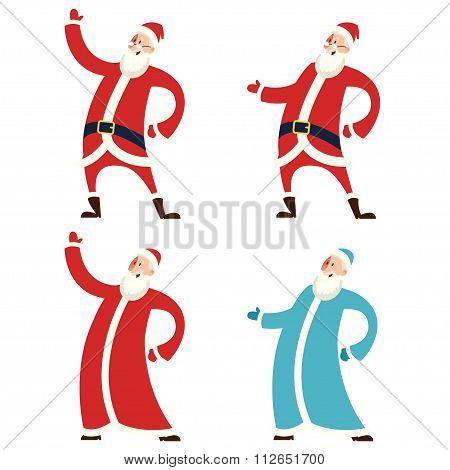 Set Of Santa Claws And Moroz