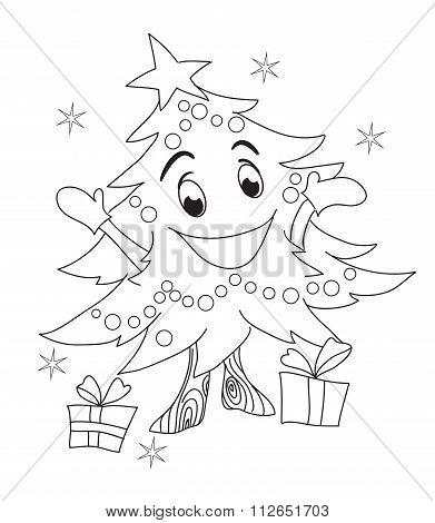Christmas Tree Character.