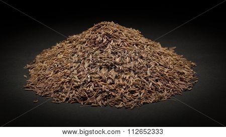 Pile of Organic Caraway (Carum carvi)