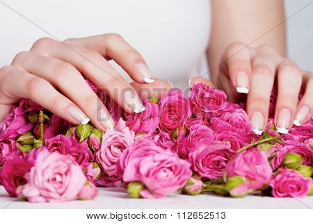 Manicure on the roses