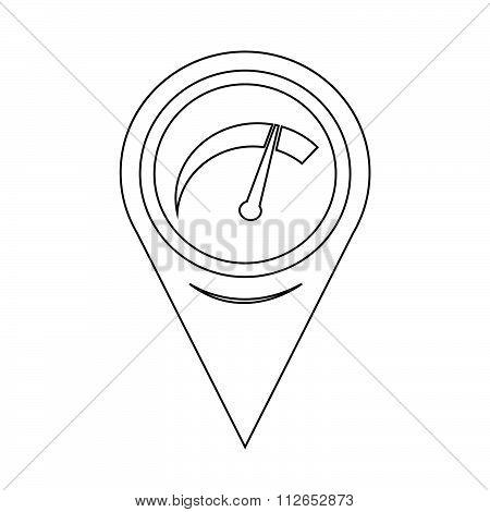 Map Pointer Car Meter Icon