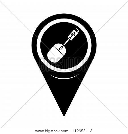 Map Pointer Usb Mouse Icon
