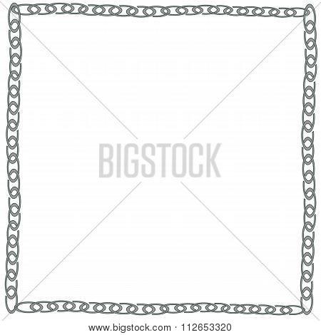 metallic chain  - Illustration
