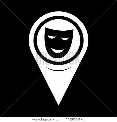 Map Pointer Theatrical Masks Icon