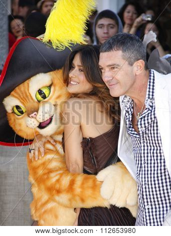 Antonio Banderas and Salma Hayek at the Los Angeles Premiere of
