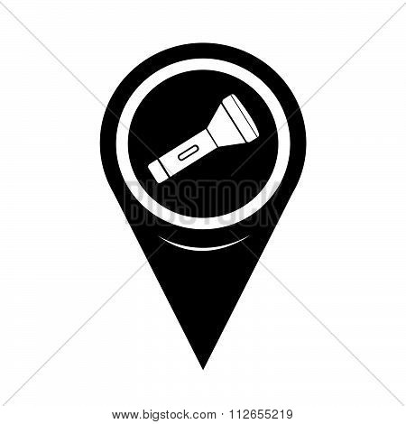Map Pointer Flashlight Icon