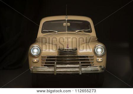 Retro Car On A Black Background