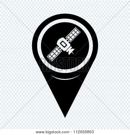 Map Pointer Satellite Icon
