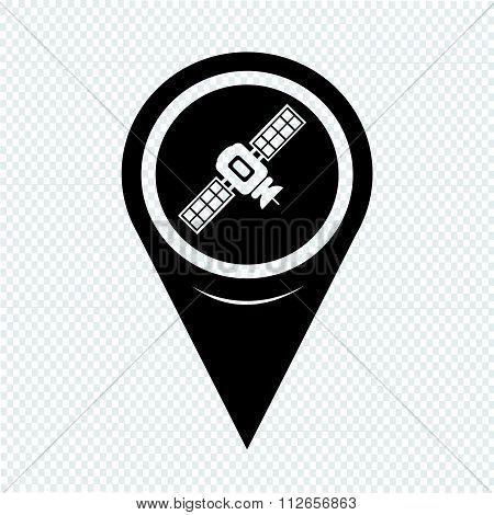 Map Pointer Satellite Icon