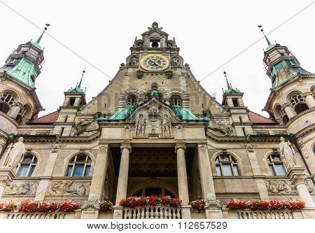 Quaint Town Hall in Hannover, Germany