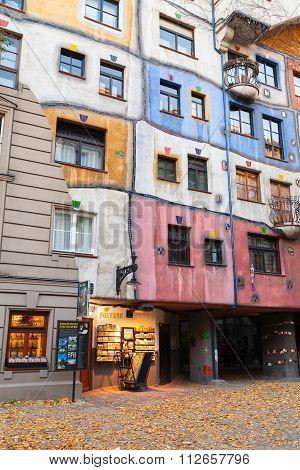 Hundertwasser House, Colorful Facade Fragment