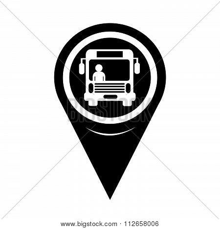 Map Pointer Bus Icon