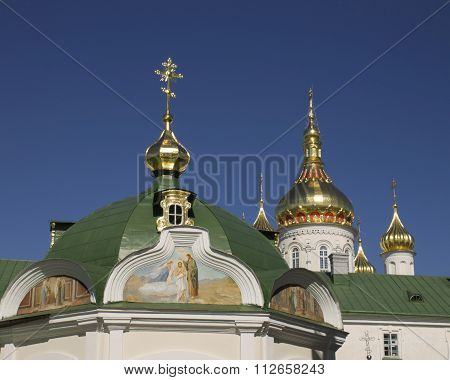 Domes And Crosses Pravoslanoy Church In Ukraine