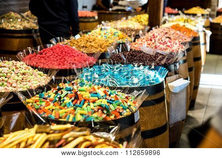Candy Drops Sweets In A Candy Store