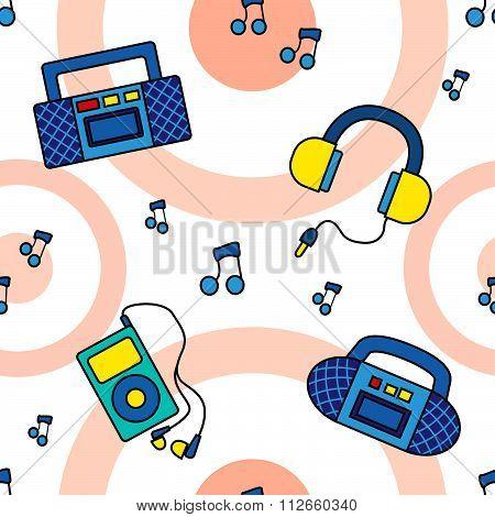 Seamless tape recorders pattern