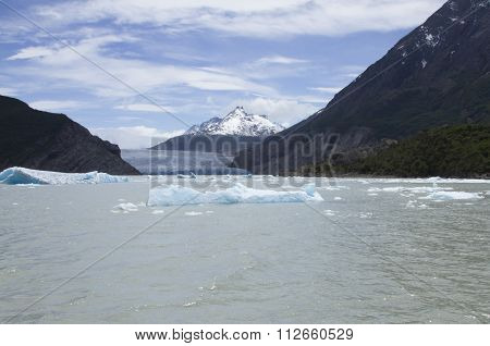 Grey Glacier Calving Into Grey Lake, Chile