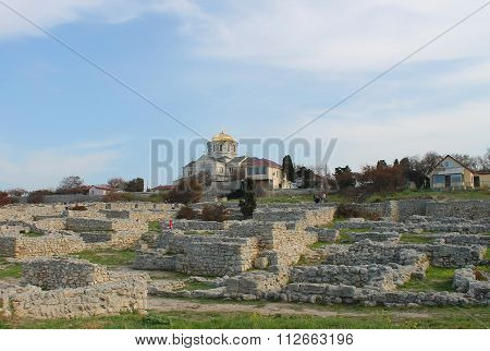 Church And Remains Of The Old City, Crimea