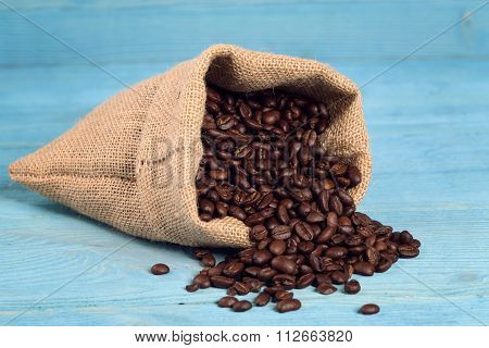 Bag Of Roasted Coffe Beans