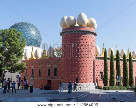 Galatea Tower And The Glass Dome Of The Theater-museum