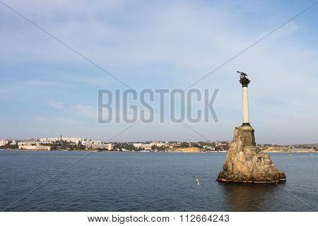 Symbol Of Sevastopol In The Black Sea