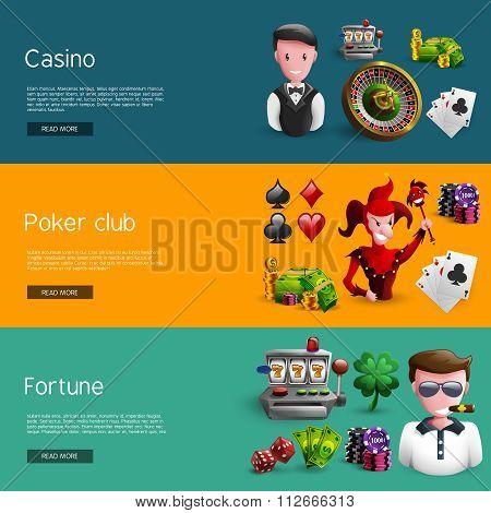 Set Of Three Casino Banners