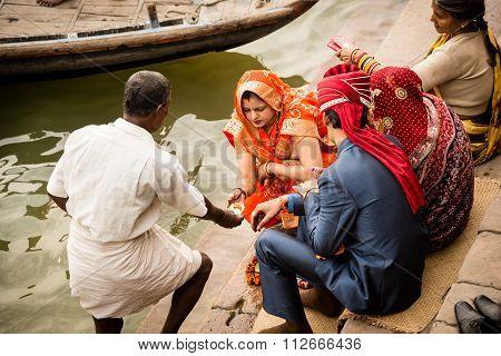 Bride And Groom Varanasi.