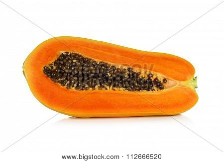 Papaya In White Background