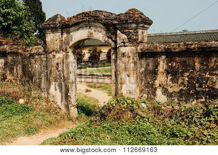 Gate In The Citadel Of Hue, Vietnam