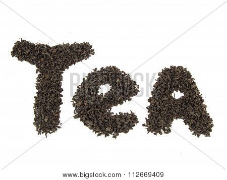 Tea Word, Made From Tea Leaves