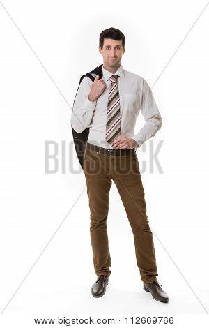 Confident clerk.