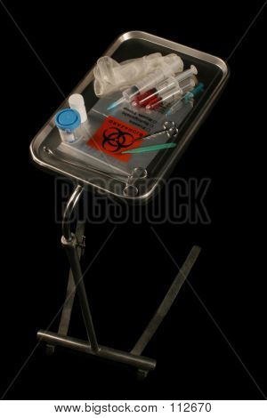 Medical Tray On Black