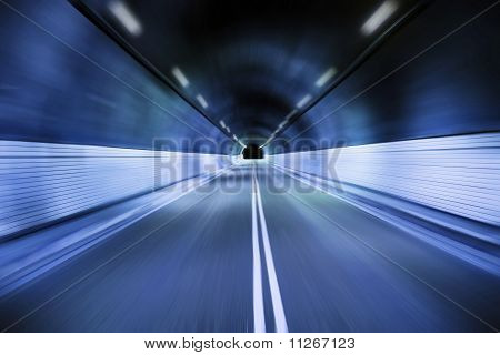 driving trough the old tunnel