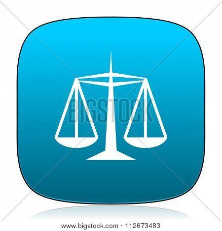 justice blue icon