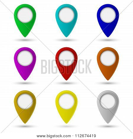 Map pointer icon. Location symbol
