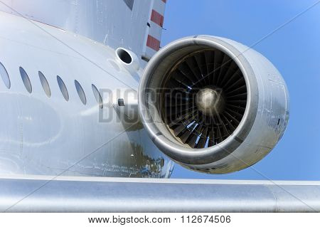 Engine of passenger plane