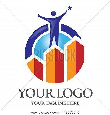 elegant success marketing logo vector